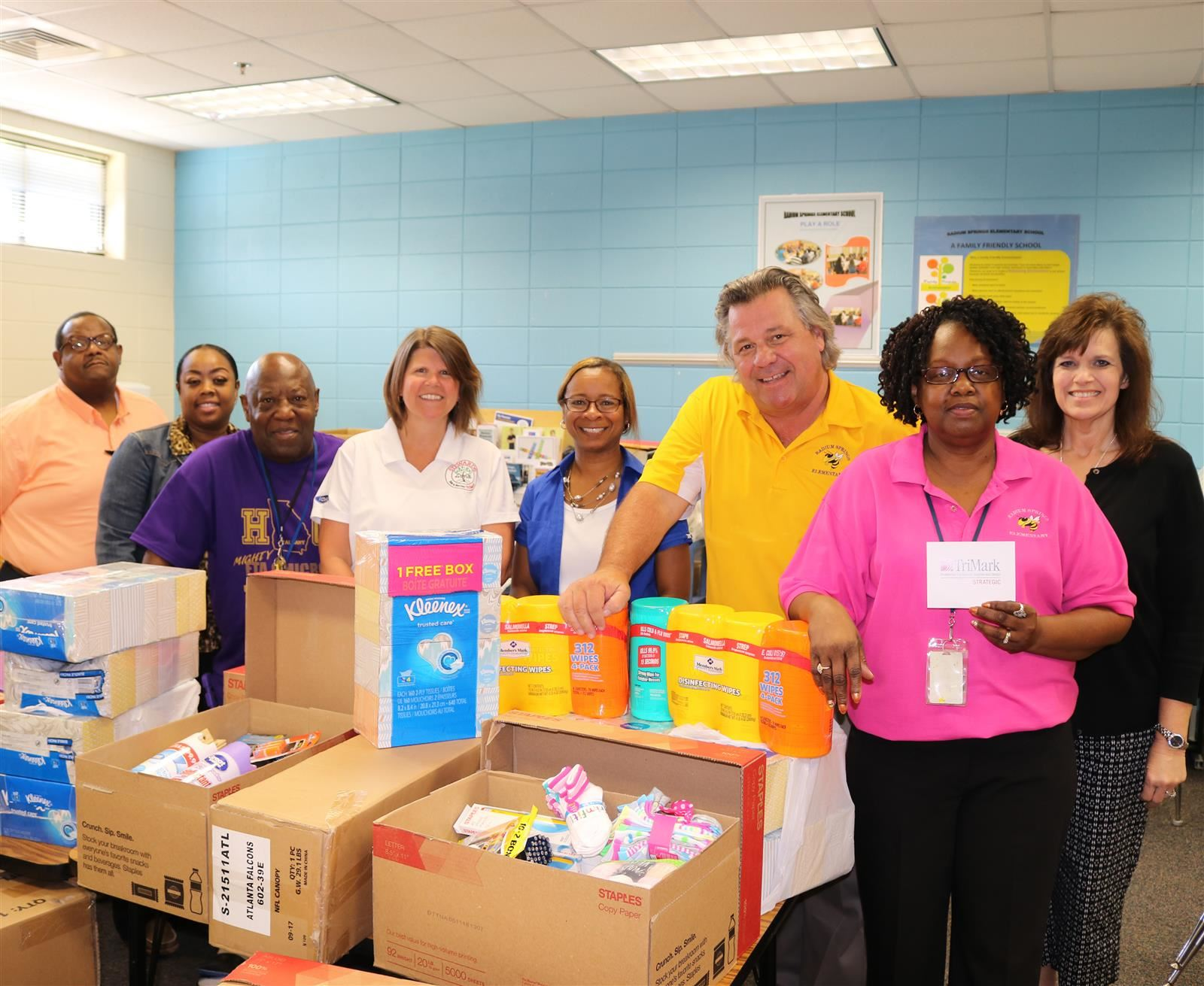 Trimark donates materials to Radium Elementary