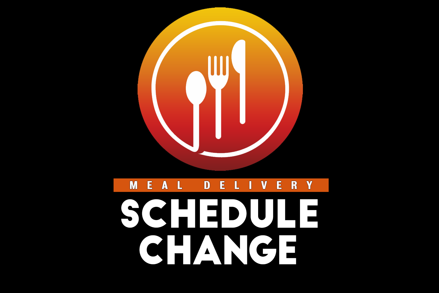 Meal delivery change graphic