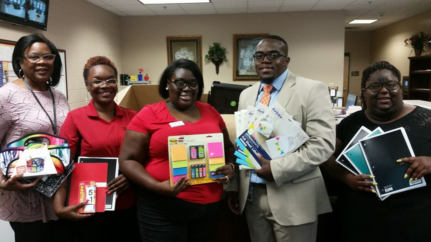 Office depot donates school supplies