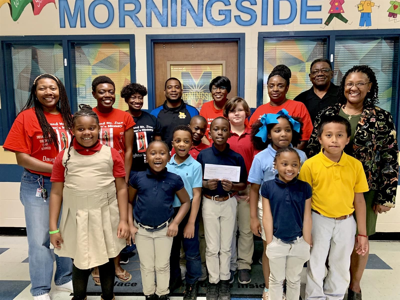 Second Mt. Zion Donates to Morningside